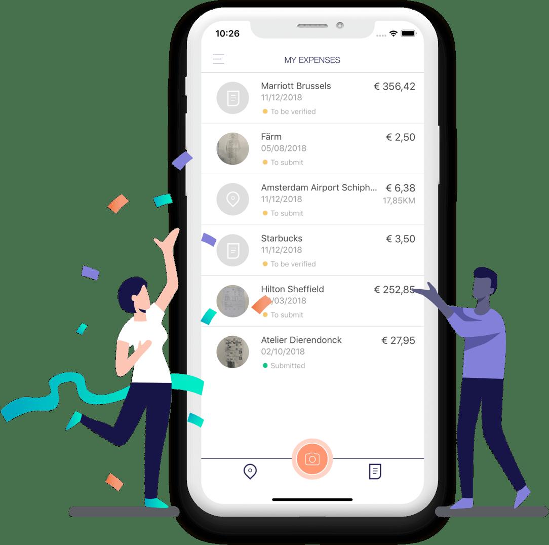 Phone with Rydoo app